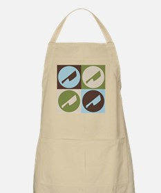 Cutting Meat Pop Art BBQ Apron