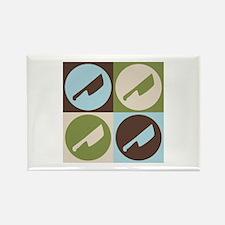 Cutting Meat Pop Art Rectangle Magnet (100 pack)