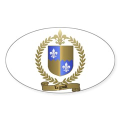 LEGAULT Family Crest Oval Decal