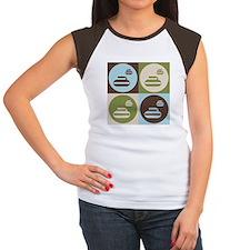 Curling Pop Art Women's Cap Sleeve T-Shirt