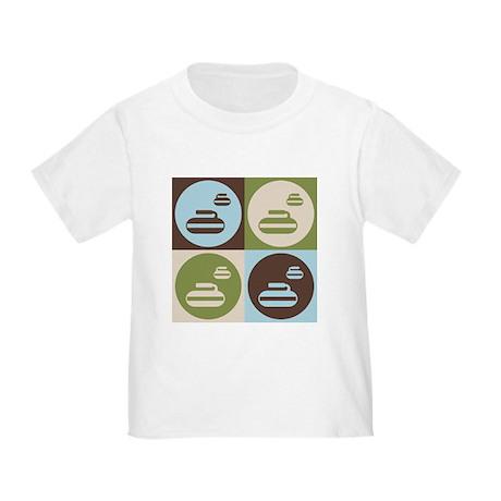 Curling Pop Art Toddler T-Shirt