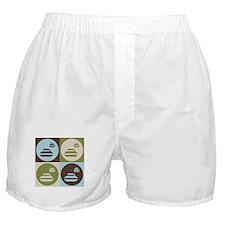 Curling Pop Art Boxer Shorts