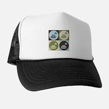 Curling Pop Art Trucker Hat