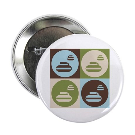 "Curling Pop Art 2.25"" Button (10 pack)"