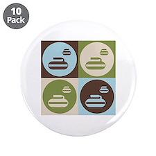 """Curling Pop Art 3.5"""" Button (10 pack)"""