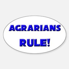 Agrarians Rule! Oval Decal