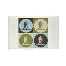 Cross Country Skiing Pop Art Rectangle Magnet