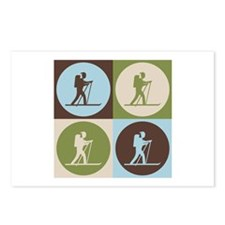 Cross Country Skiing Pop Art Postcards (Package of