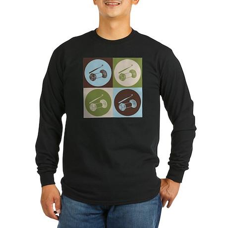 Crocheting Pop Art Long Sleeve Dark T-Shirt