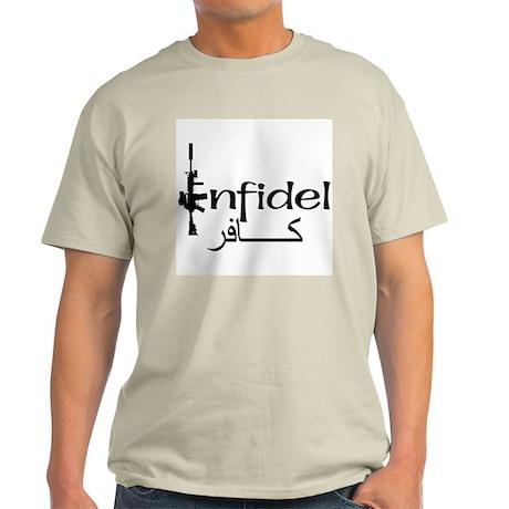 English Arabic Infidel Light T-Shirt