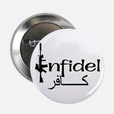 "English Arabic Infidel 2.25"" Button"