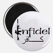 "English Arabic Infidel 2.25"" Magnet (100 pack)"