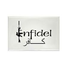 English Arabic Infidel Rectangle Magnet