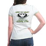 Human Test Subject Dugway Jr. Ringer T-Shirt