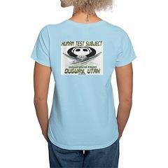 Human Test Subject Dugway Women's Pink T-Shirt