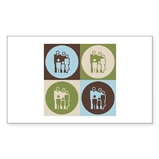 Counseling Pop Art Rectangle Decal