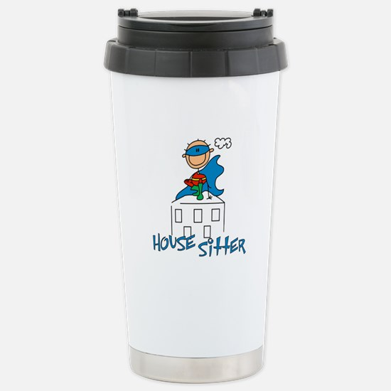 Boy Hero House Sitter Stainless Steel Travel Mug