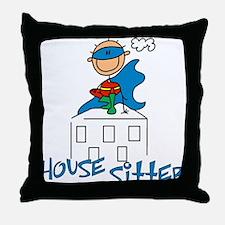 Boy Hero House Sitter Throw Pillow