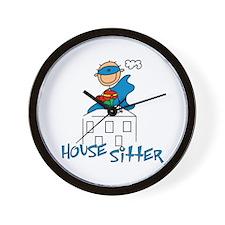 Boy Hero House Sitter Wall Clock