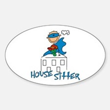 Boy Hero House Sitter Oval Decal