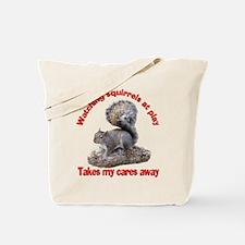 Squirrels at Play Tote Bag