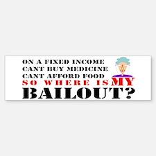 Bailout Plan Anger Bumper Bumper Bumper Sticker