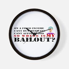 Bailout Plan Anger Wall Clock