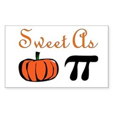 Sweet as Pumpkin Pi Rectangle Decal