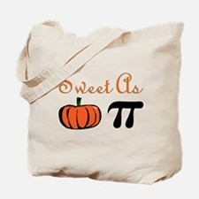 Sweet as Pumpkin Pi Tote Bag