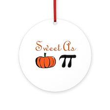 Sweet as Pumpkin Pi Ornament (Round)