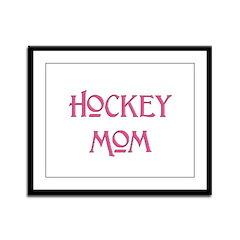 Hockey Mom pink text Framed Panel Print