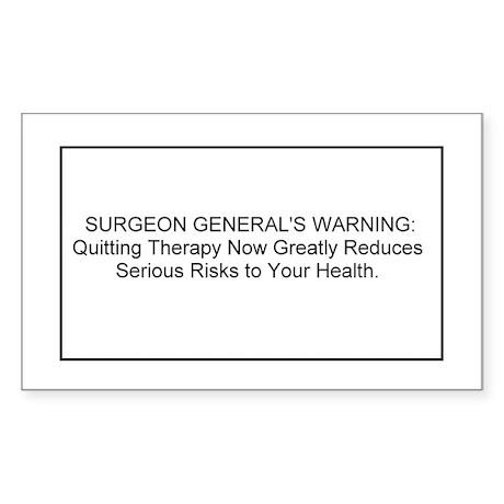 health warning #1 Rectangle Sticker
