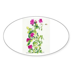 Mare's Roses Oval Decal