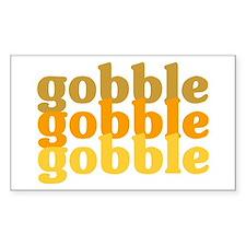 Gobble Gobble Gobble Rectangle Decal