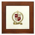 DOUCETTE Family Crest Framed Tile