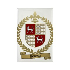 DOUCETTE Family Crest Rectangle Magnet (100 pack)