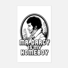 Mr. Darcy Rectangle Decal