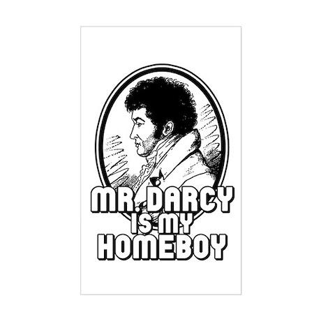 Mr. Darcy Rectangle Sticker