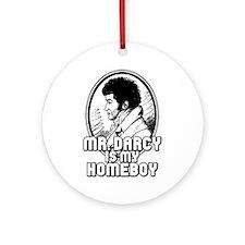 Mr. Darcy Ornament (Round)