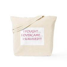 I Beat Breast Cancer Tote Bag