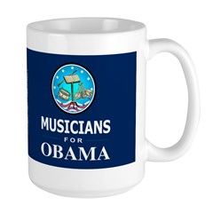 MUSICIANS FOR OBAMA Dark Mug