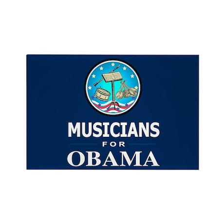 MUSICIANS FOR OBAMA Rectangle Magnet (100 pack)