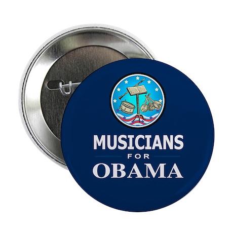 "MUSICIANS FOR OBAMA 2.25"" Button"
