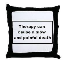 health warning #2 Throw Pillow