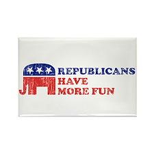 Republicans have more fun Rectangle Magnet
