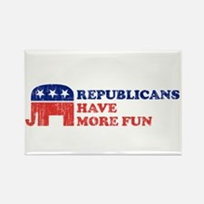 Republicans have more fun Rectangle Magnet