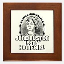 Jane Austen Framed Tile