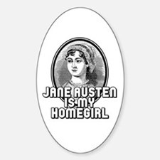 Jane Austen Sticker (Oval)