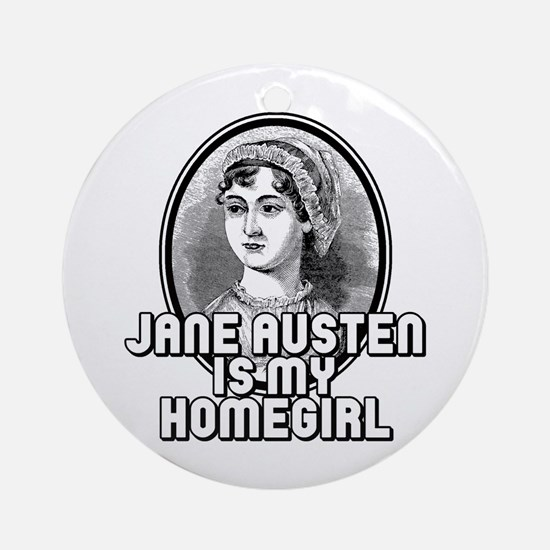 Jane Austen Round Ornament