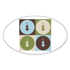 Cello Pop Art Oval Decal
